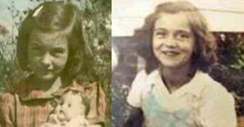 Las niñas Betty June Binnicker y Mary Emma Thames